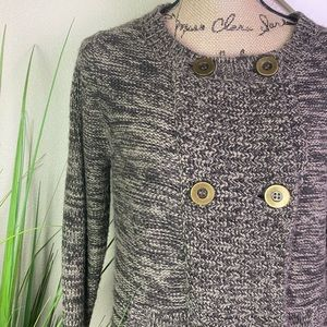 caslon knit sweater, double breasted